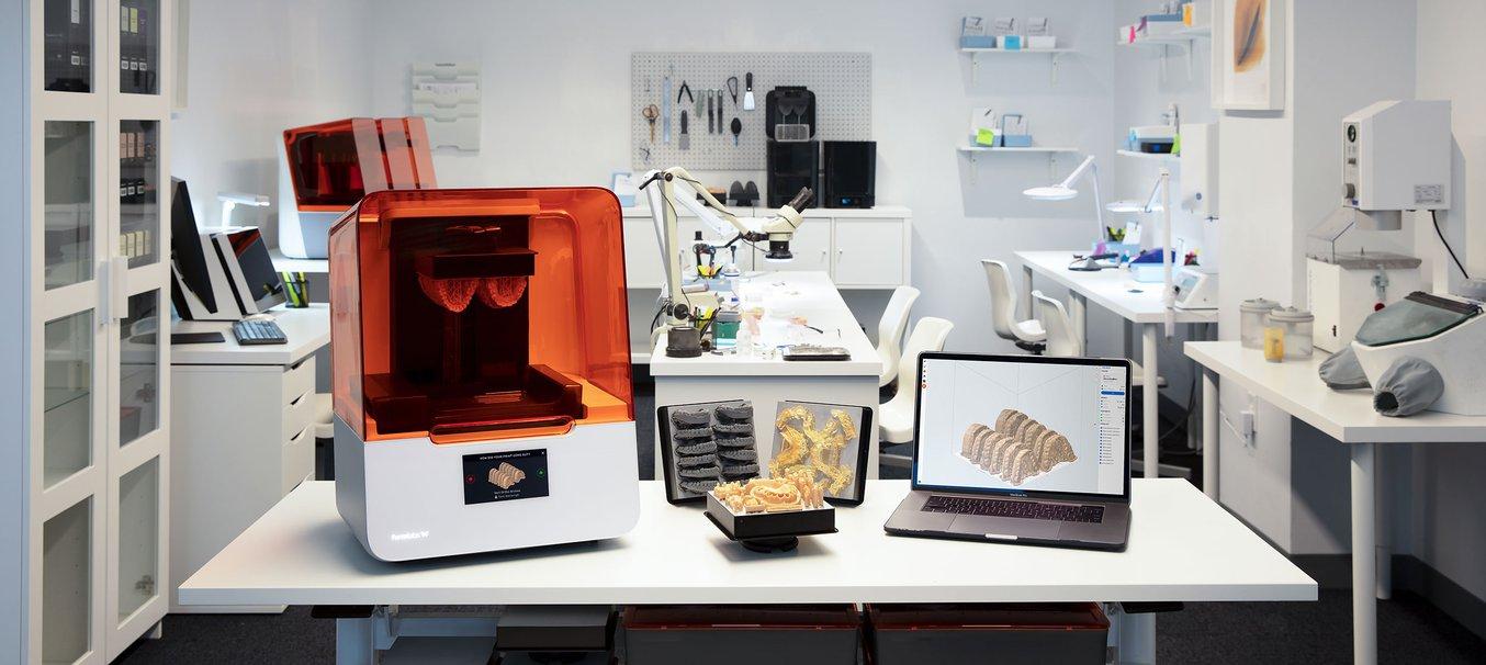 The Form 3B dental 3D printer