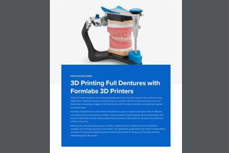 Digital dentures 3D printing application guide
