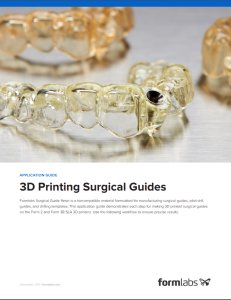 Surgical guides whitepaper